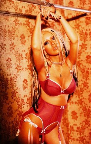 Sexiga Christina Aguilera medhandklovar