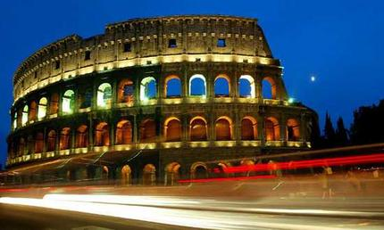 Rome by night –<p> medlågprisflygbolag