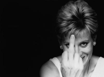 Diana ger fingret - fuckoff