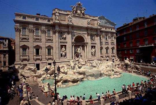 Romantiska Rom och Fontana diTrevi