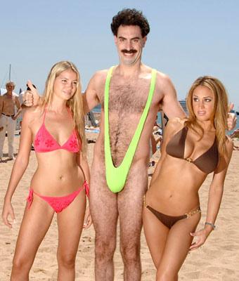 Sacha Baron Cohen - alias Borat alias Bruno alias Ali - strippade påflygplats