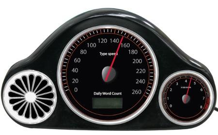 Hastighetsmätare tilltangentbordet