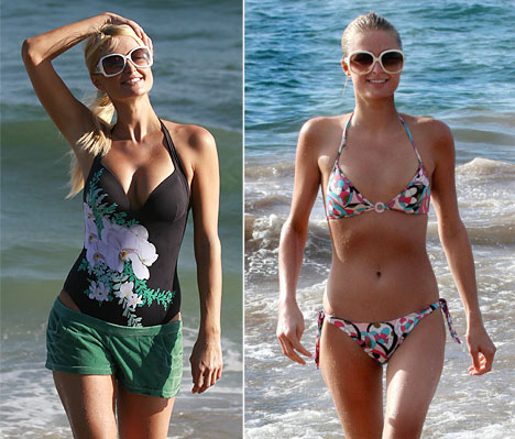 Paris Hilton bröst silikon implantat / paris-hilton-breast-implants-bathing-suit