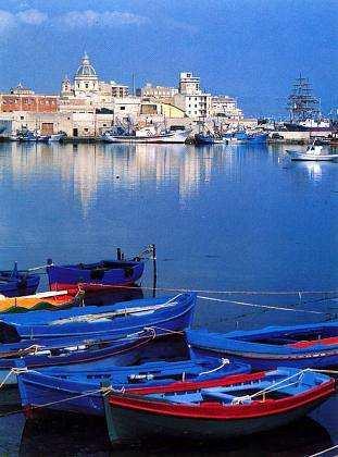 Trapani på Sicilien