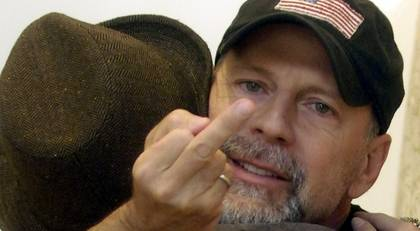 Bruce Willis – sit on this finger!