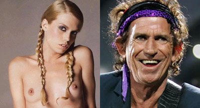 Theodora (t v) och Keith Richards.