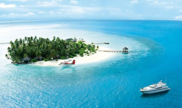 Egen ö på lyxiga Maldiverna