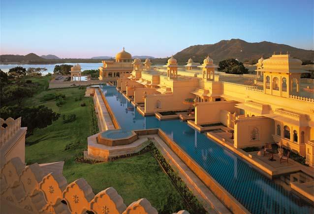 Lyxhotellet Oberoi Udaivilas i Indien