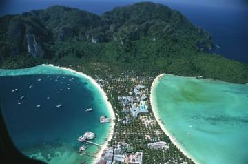 Phi Phi Don by air.