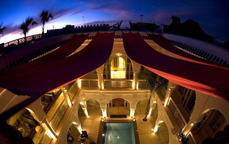 Lyxigt hotel i Marrakesh.