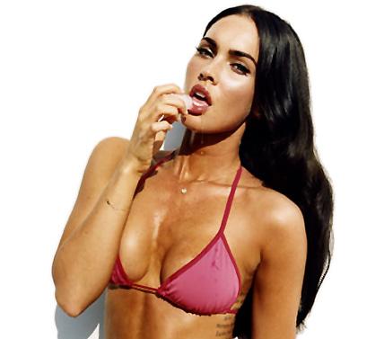 Naket med Megan Fox - eller bara nästan naken...