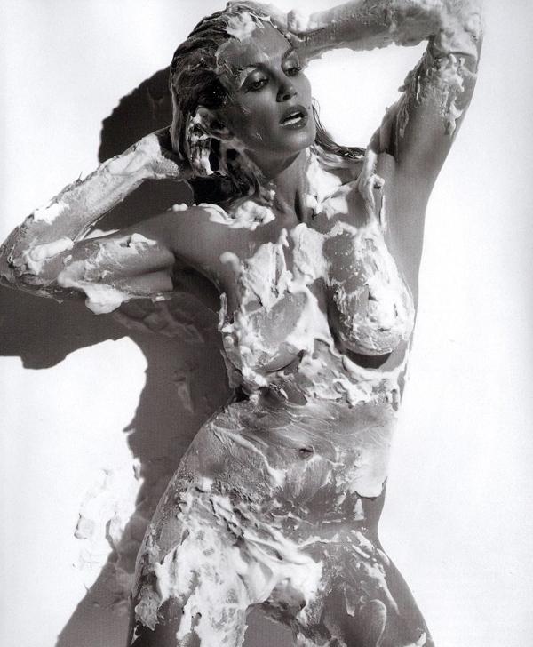 En naken Cindy Crawford i god form