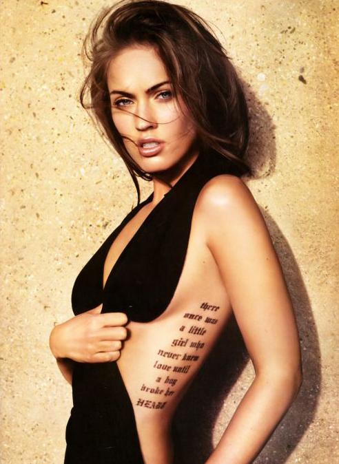 Megan Fox visar upp sex tatueringar