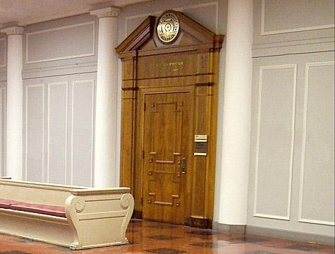 Stängda dörrar på begäran av Tove Linds advokat