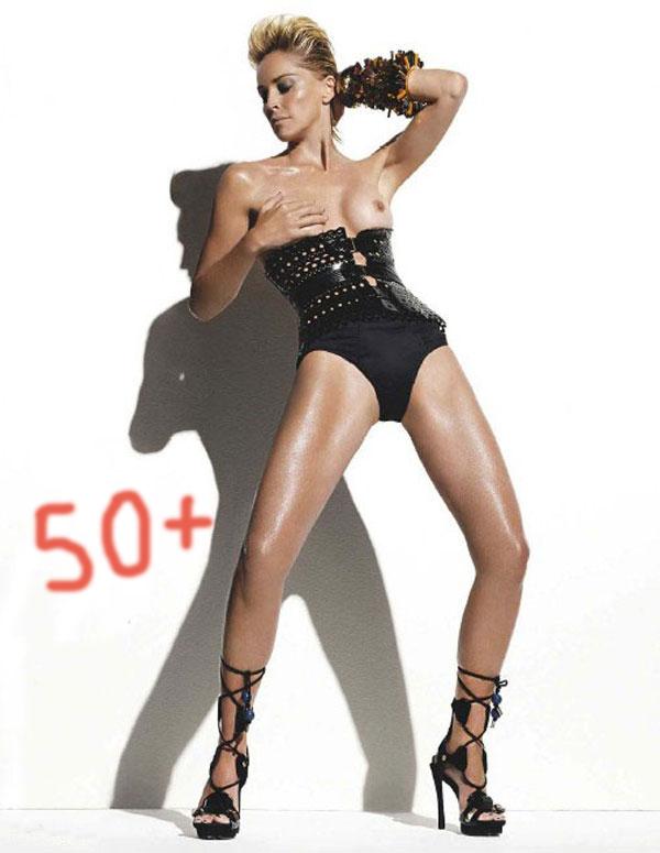 Sharon Stone är över 50 år...