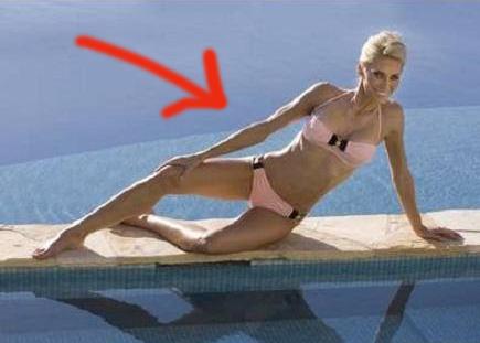 Anna Anka vid poolen