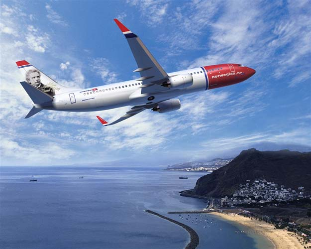 Norwegian har en modern flotta med bl a senaste Boeing 737