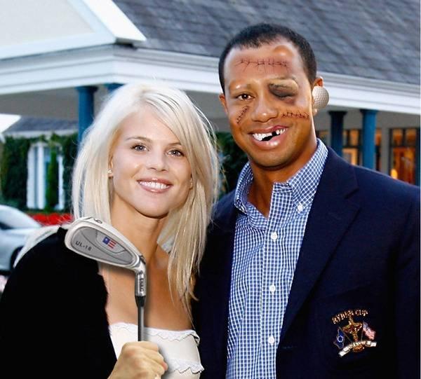 Tiger Woods får smaka av Elin Nordegren