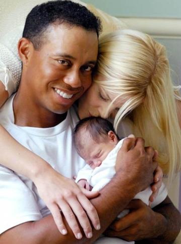 Familjeidyll med Tiger Woods och Elin Nordegren