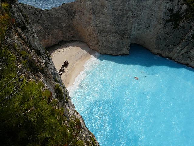 Navagio Beach på Zakynthos i Grekland